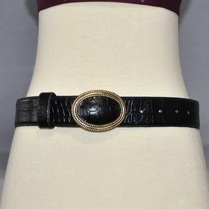 Vintage 80s Liz Claiborne Leather Belt Size Medium